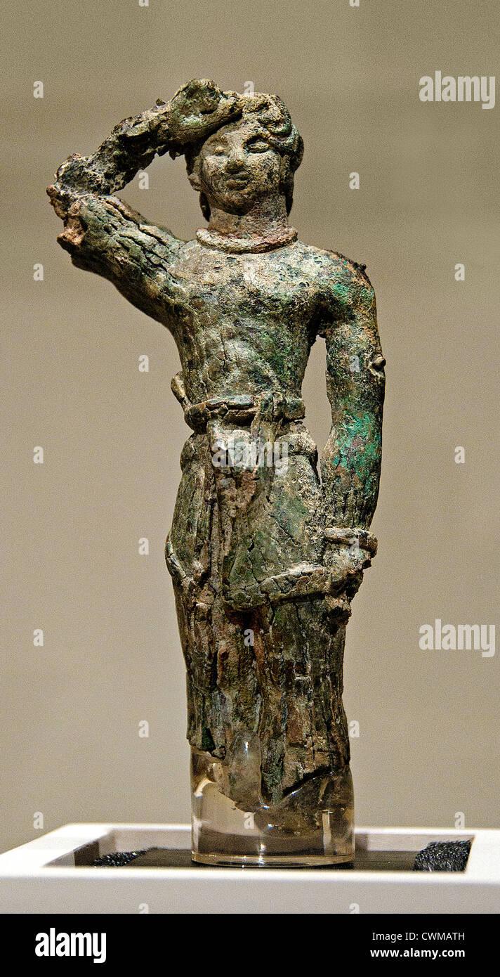 Bronze male Figure Cretan Late Minoan  1600 1450 Crete - Stock Image