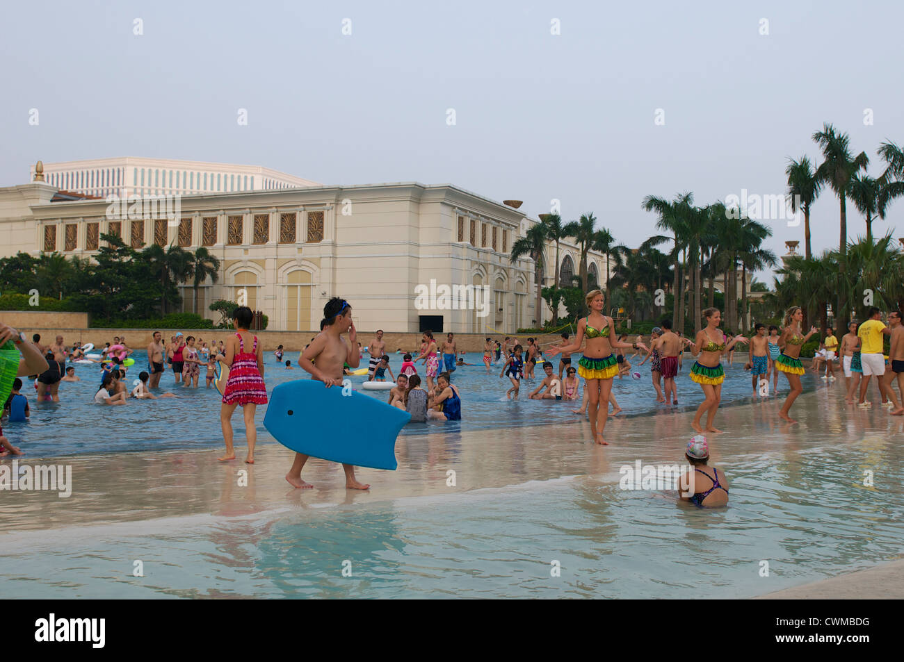 The Wave Pool At The Galaxy Hotel In Macau China Stock Photo