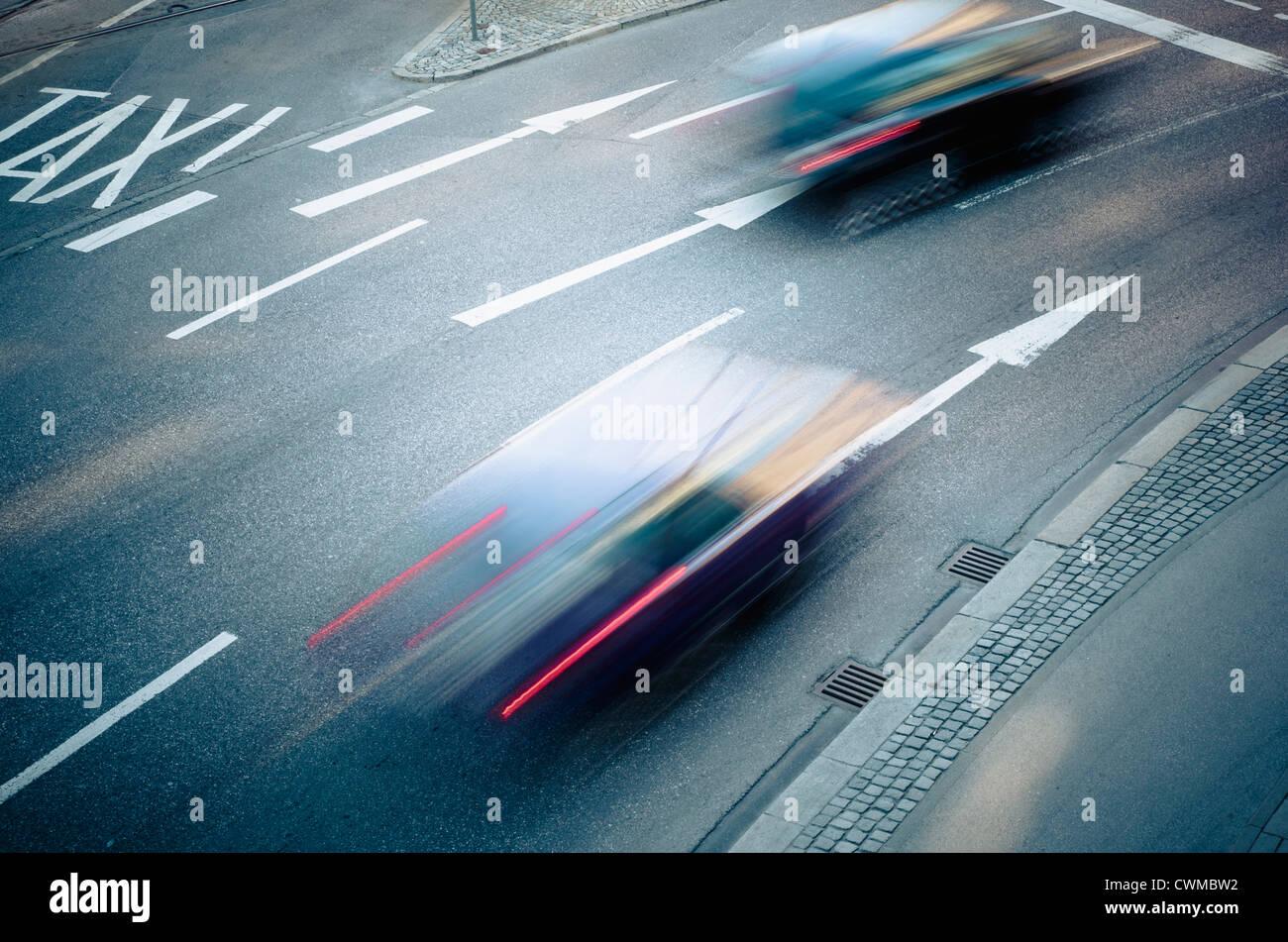 Germany, Bavaria, Munich, Traffic on road - Stock Image