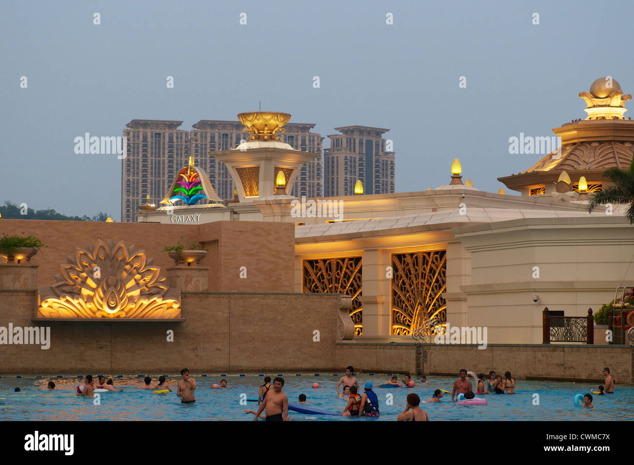 Wave Pool In The Galaxy Hotel In Macau Stock Photo 50235806 Alamy