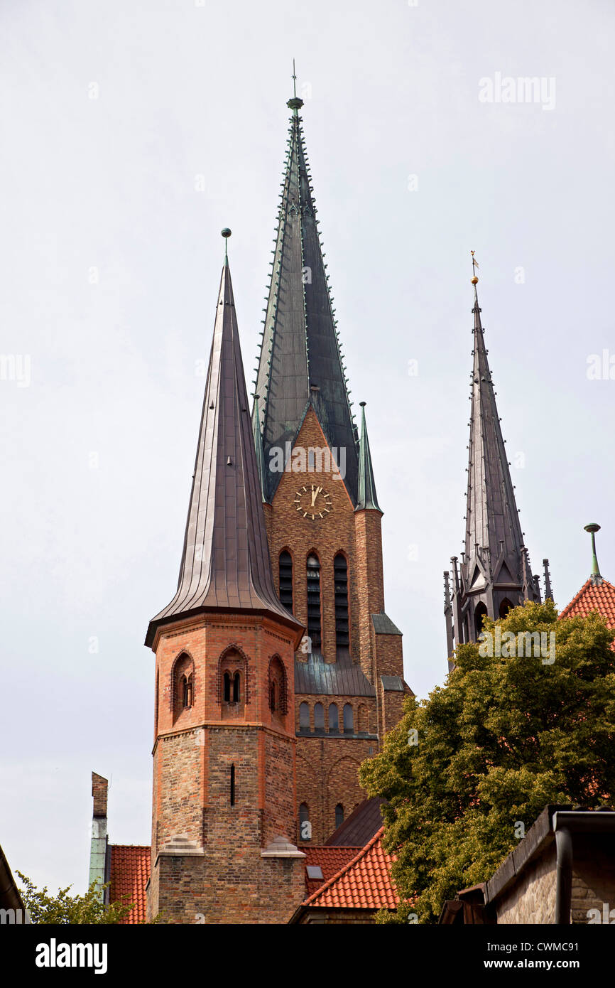 church tower of Schleswig Cathedral, Schleswig, Schleswig-Holstein, Germany, Europe - Stock Image