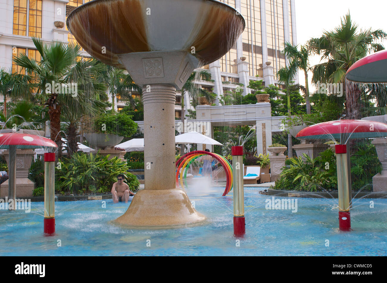 Wave Pool In The Galaxy Hotel In Macau Stock Photo 50235953 Alamy