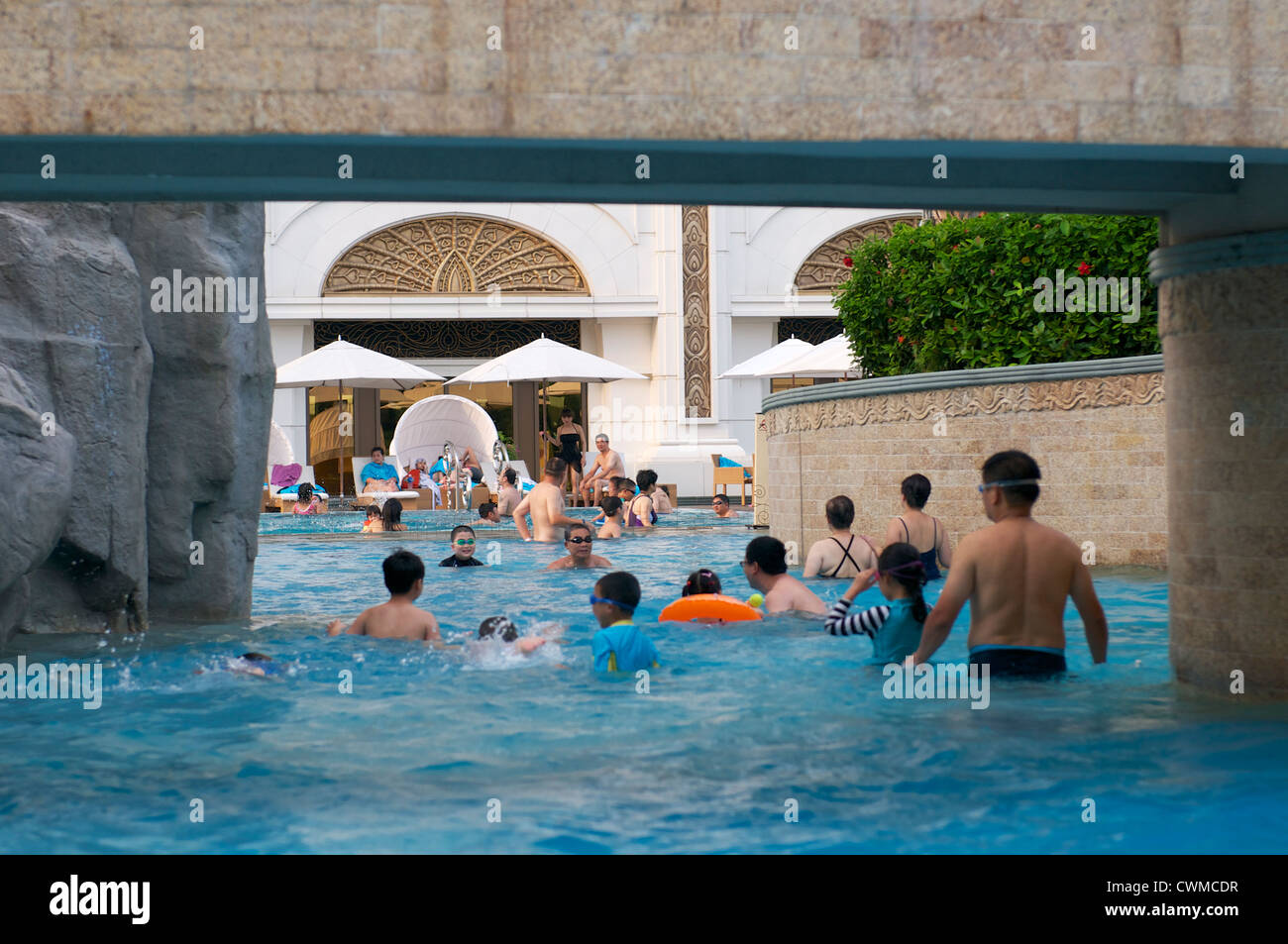 Wave Pool In The Galaxy Hotel In Macau Stock Photo 50235971 Alamy