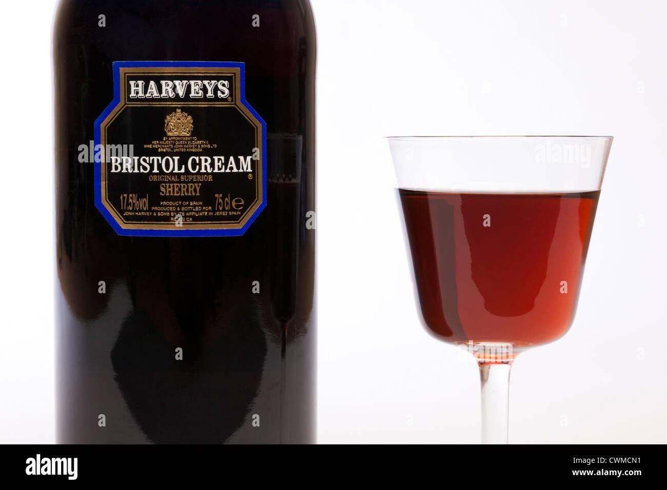 Bristol Cream Blue Glass