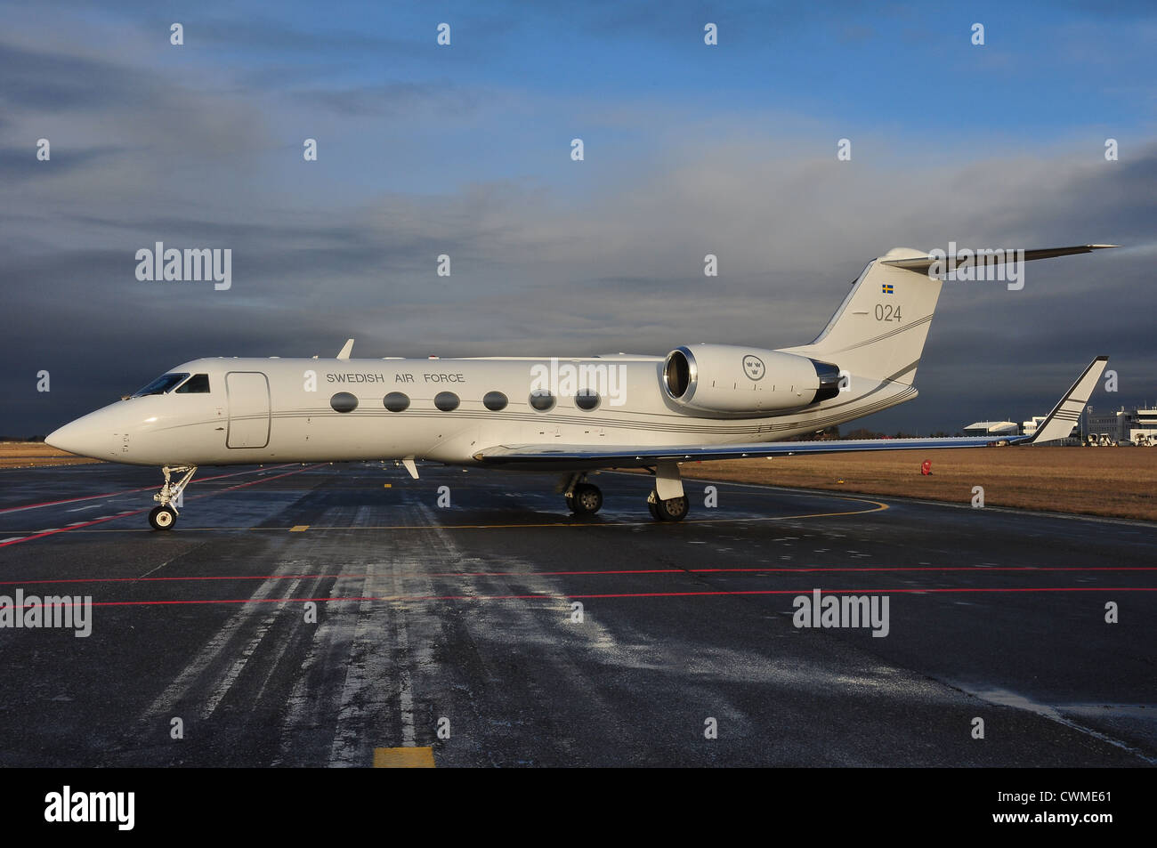 Sweden Air Force Gulfstream G-IV - Stock Image