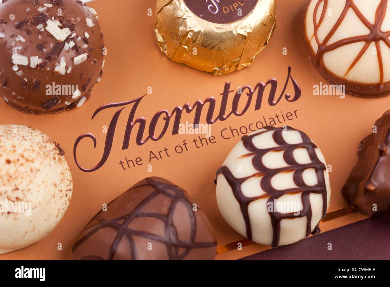 Thorntons chocolates - Stock Image