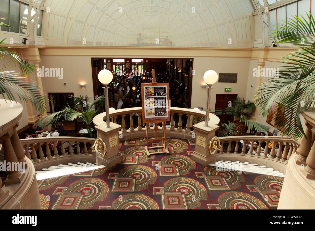 The winter gardens pub, owned by JD Wetherspoons, Harrogate, Yorkshire UK - Stock Image