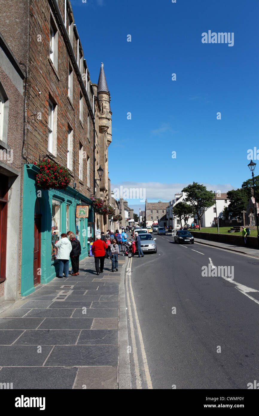View of Broad Street, Kirkwall, Orkney, Scotland UK - Stock Image