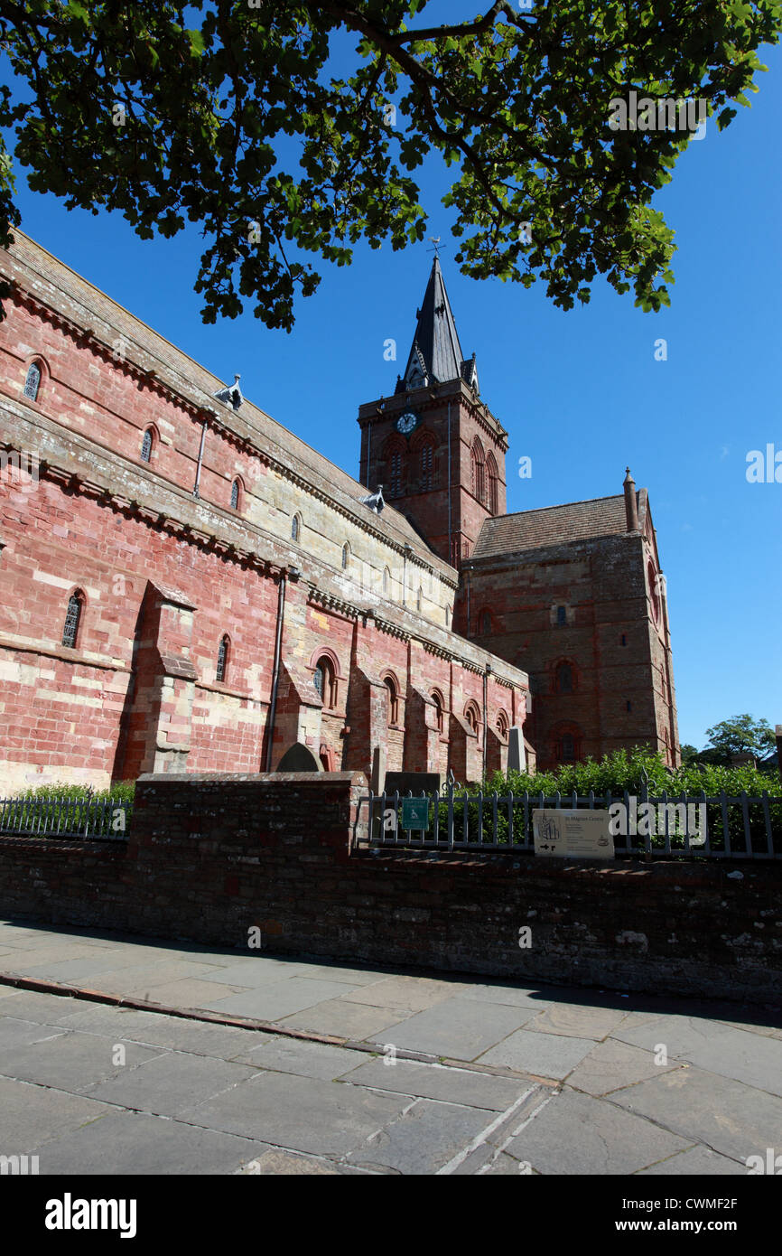 st magnus cathedral kirkwall Orkney UK - Stock Image