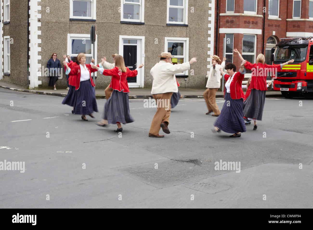 Manx Country dancing - Stock Image