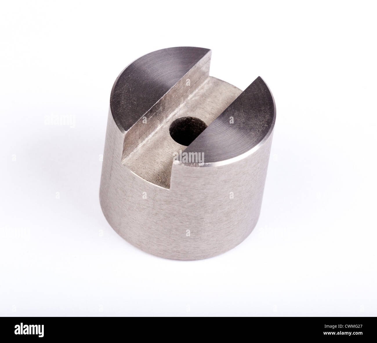 titanium alloy machined part - Stock Image