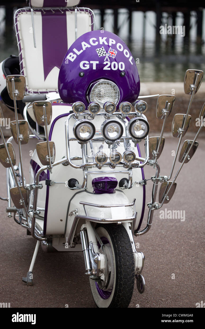 Customised Classic Lambretta Scooter With Lights And