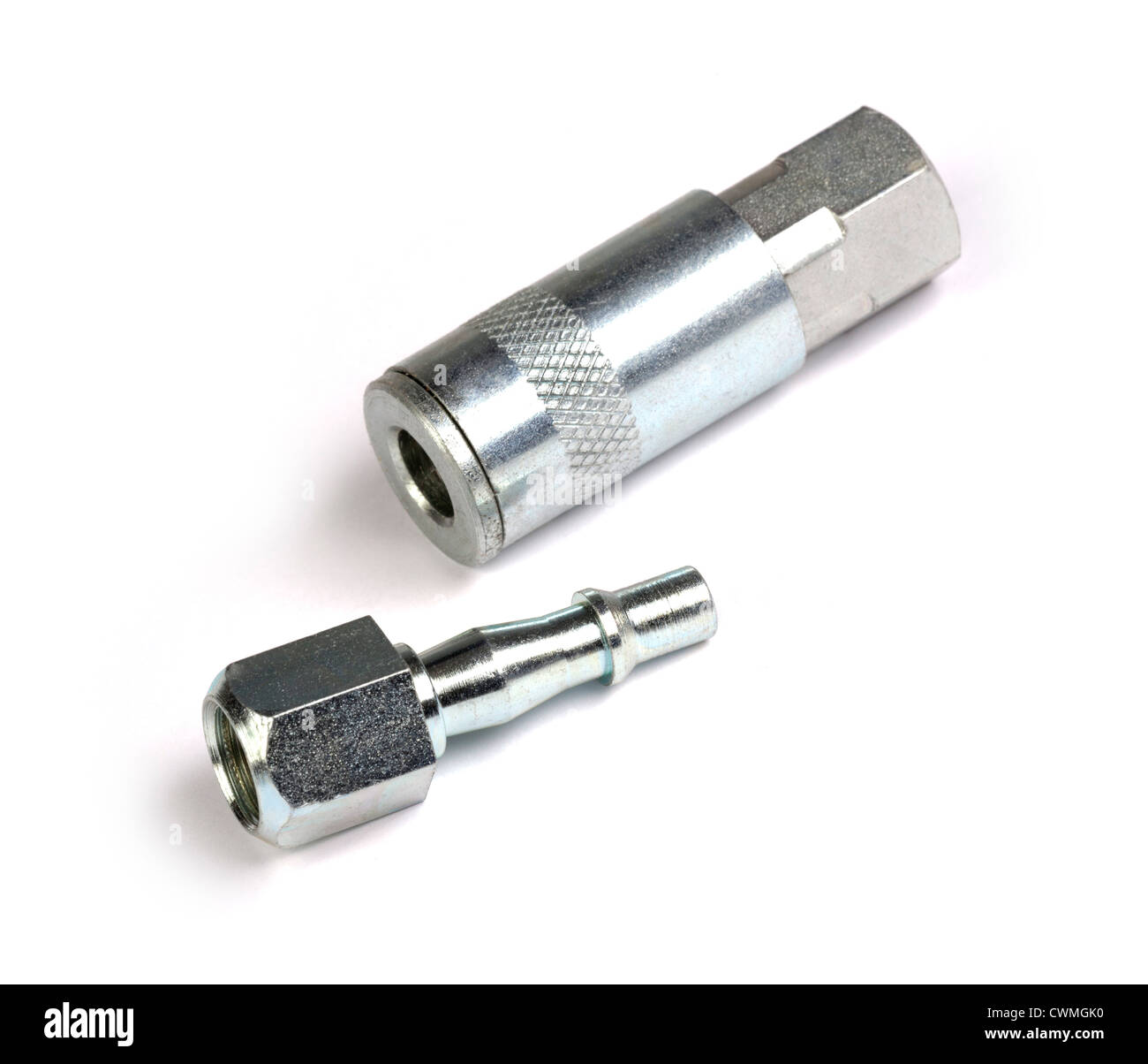 PCL type pneumatic pipe connectors - Stock Image