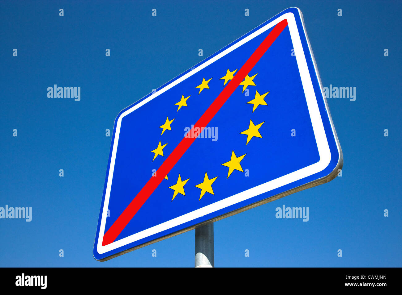 European Union sign - znak Evropske unie - Stock Image