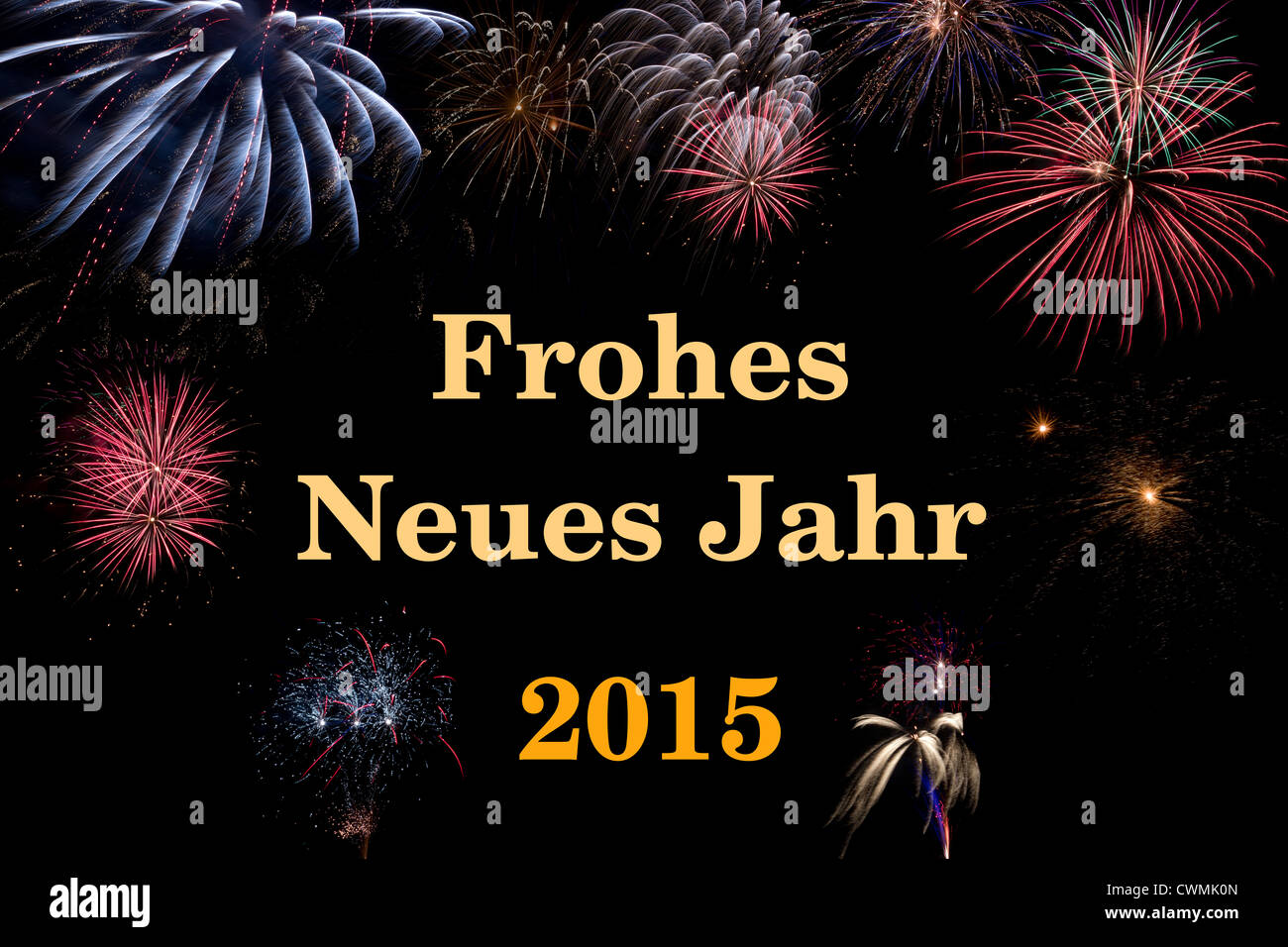 Frohes Neues Jahr 2015 (deutsch/german Stock Photo: 50241093 - Alamy