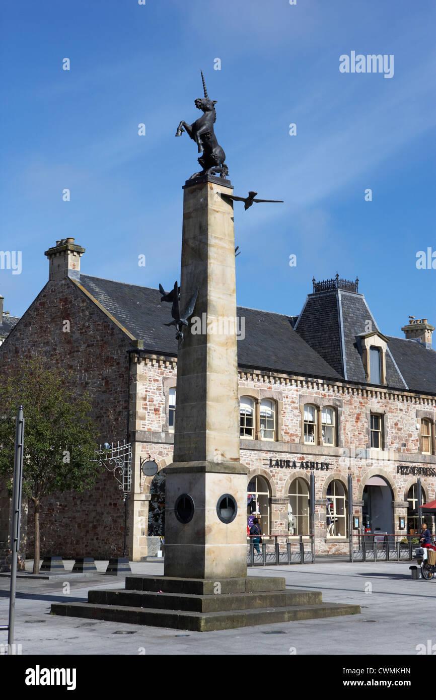 inverness mercat cross in new falcon square highland scotland uk - Stock Image