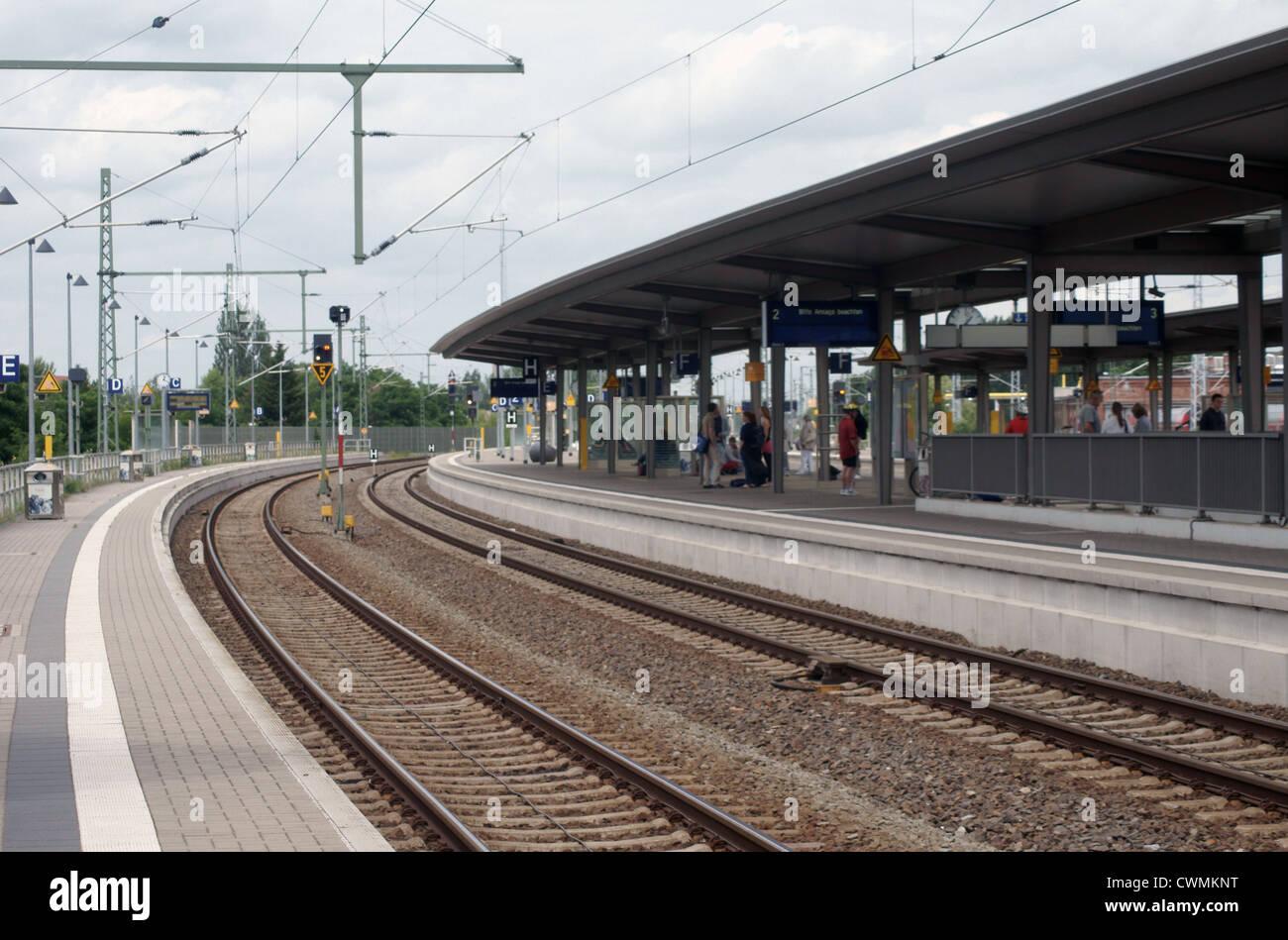 train station - Stock Image