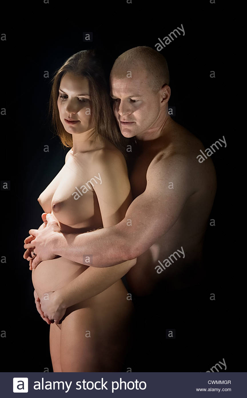 Something is. nude of husband pregnant wife