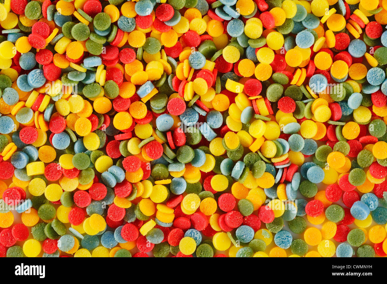 multi-colored sprinkles topping - Stock Image