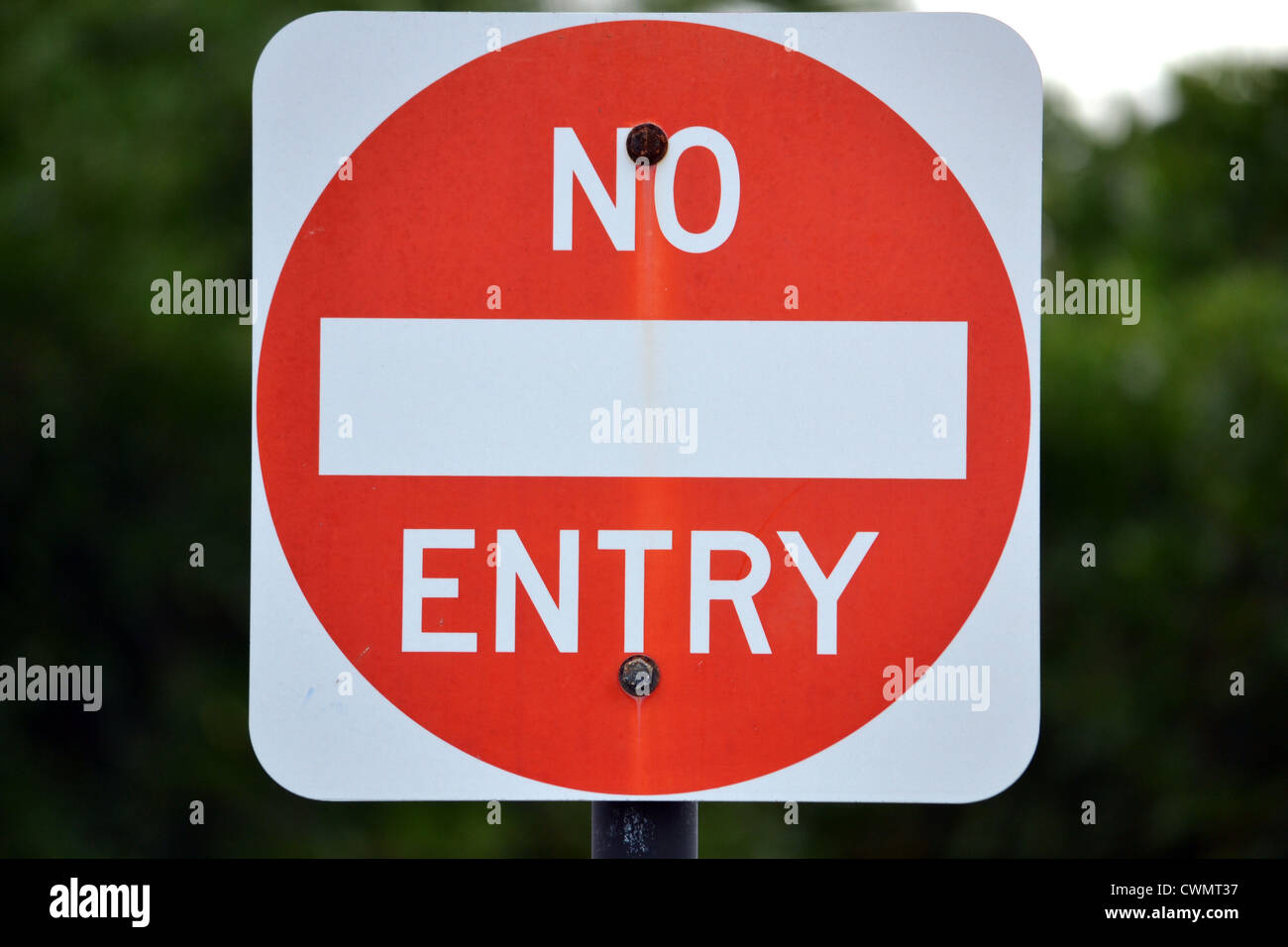 NO ENTRY sign - Stock Image