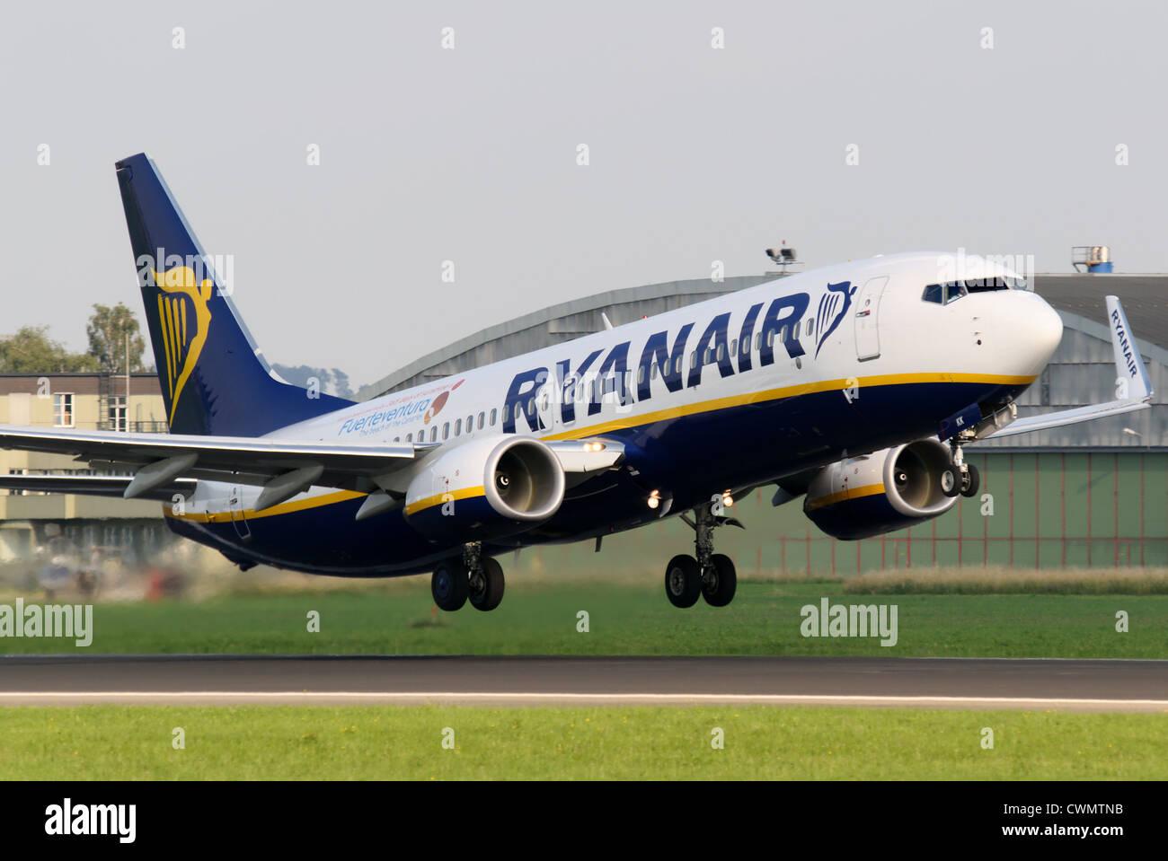 Boeing 737-800 of Ryanair - Stock Image