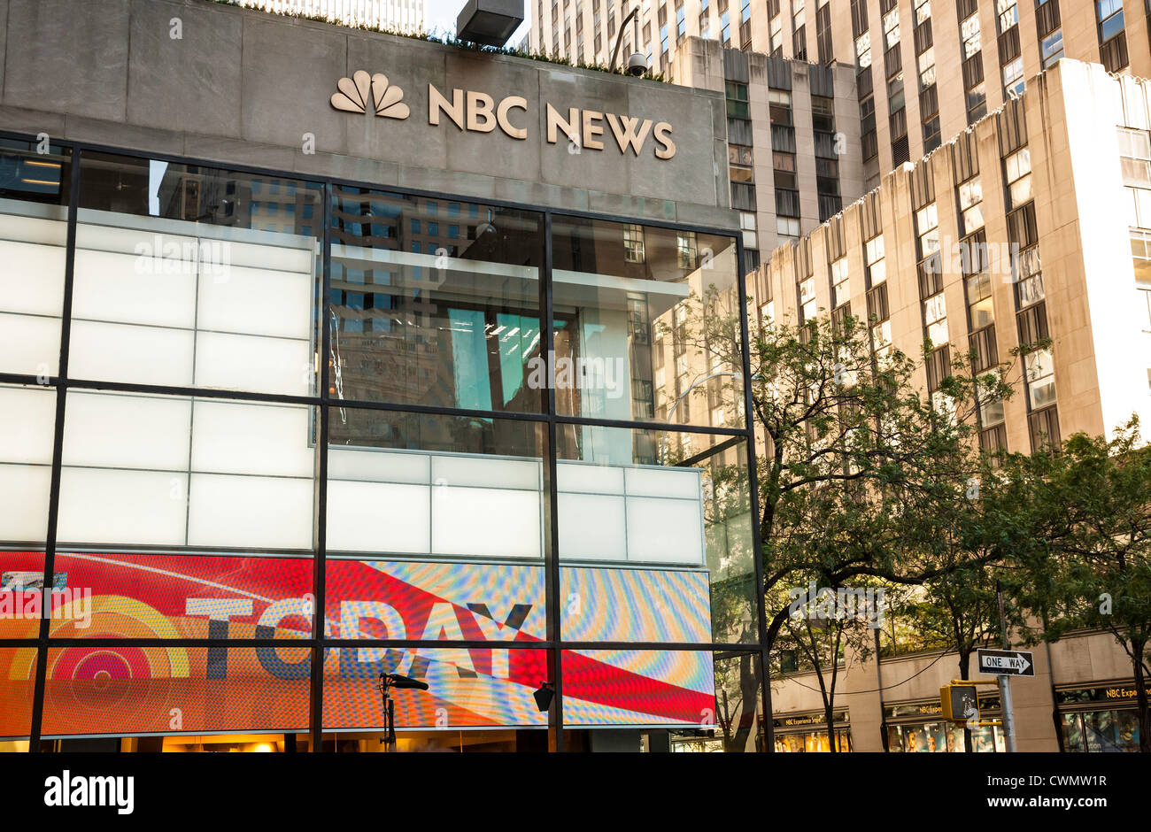 NBC Today Show Studio featuring new graphics - Stock Image