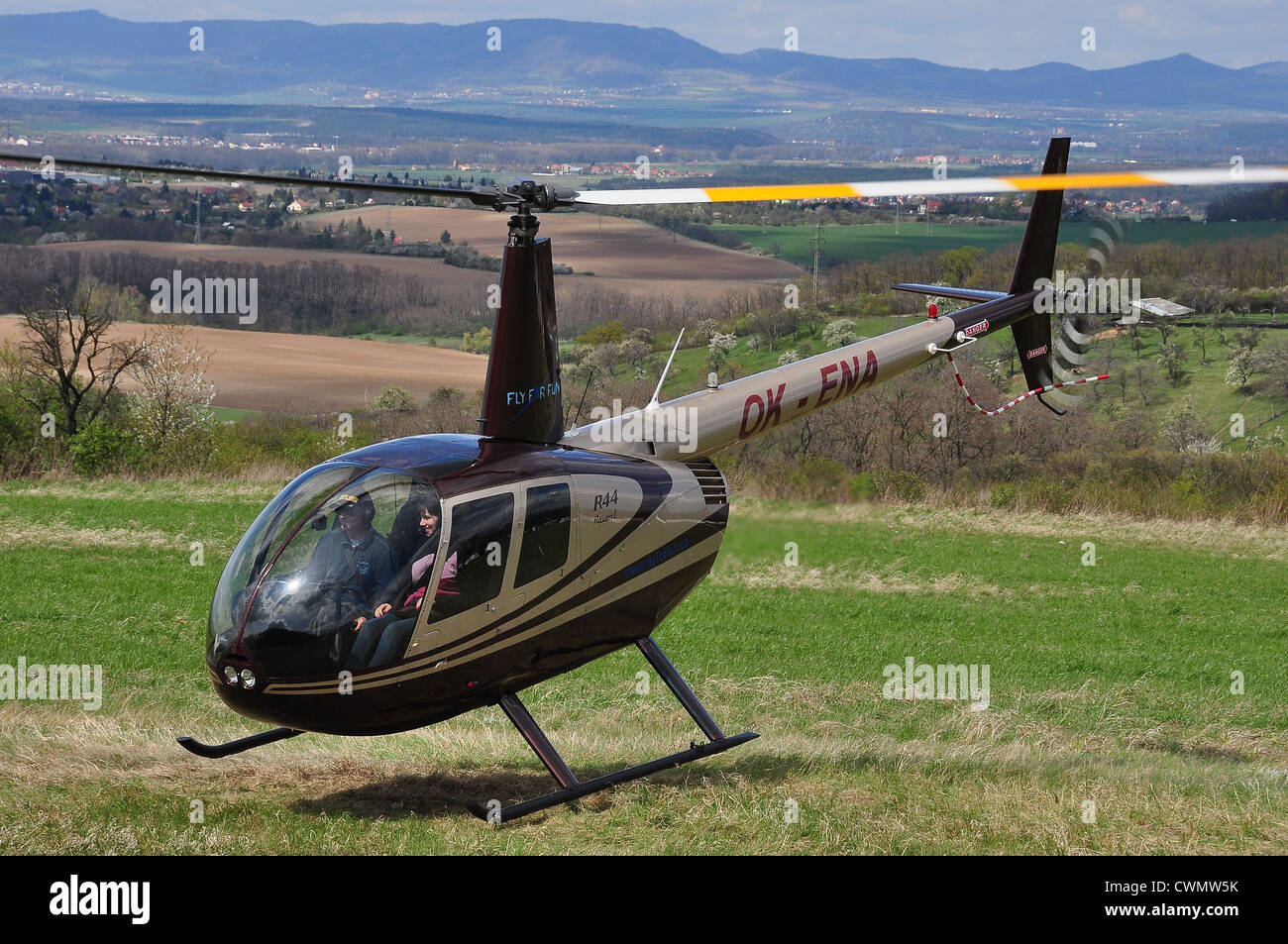Robinson R44 Helicopter Stock Photo