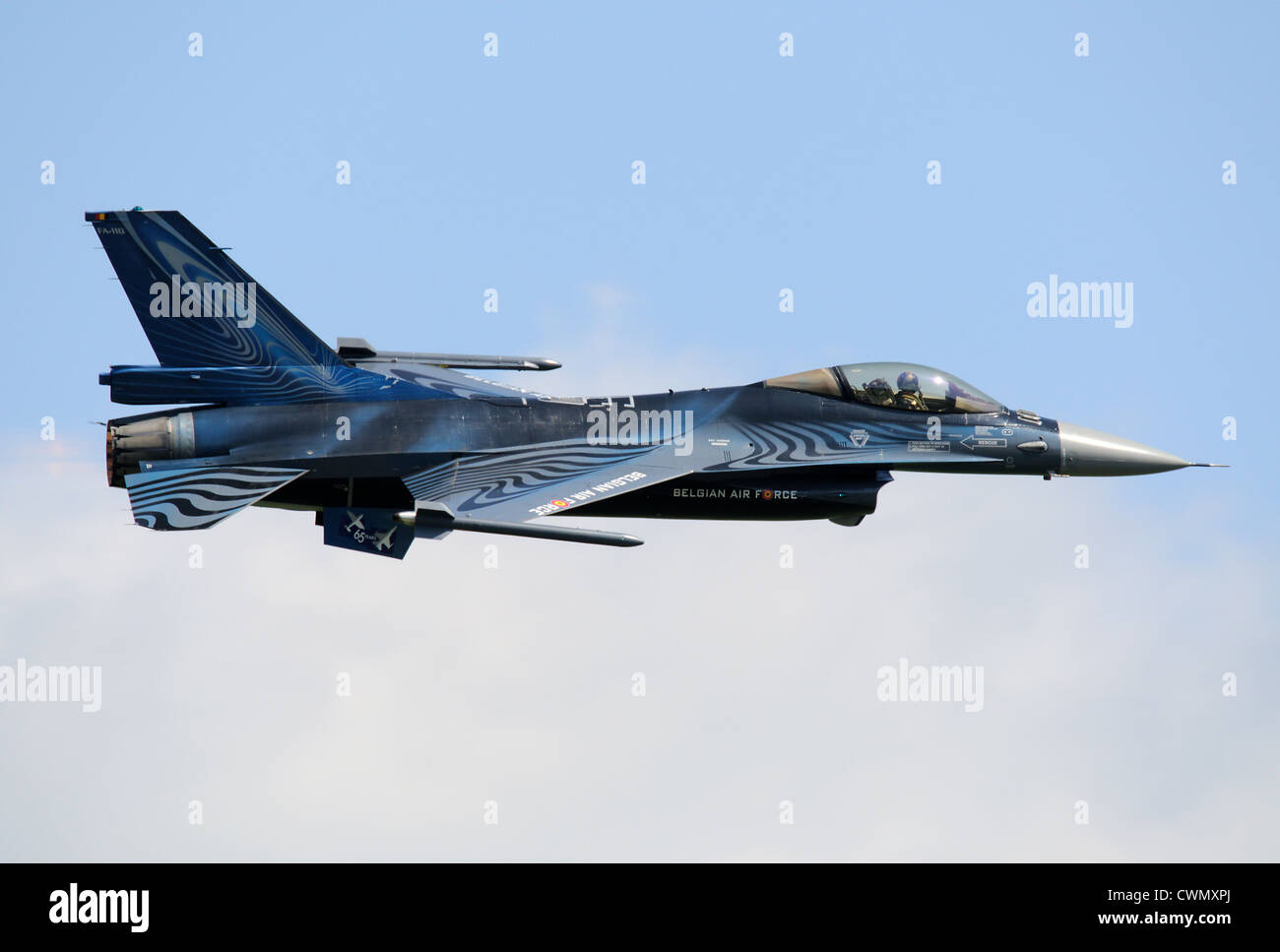 General Dynamics F-16A Fighting Falcon of Belgian Air Force - Stock Image