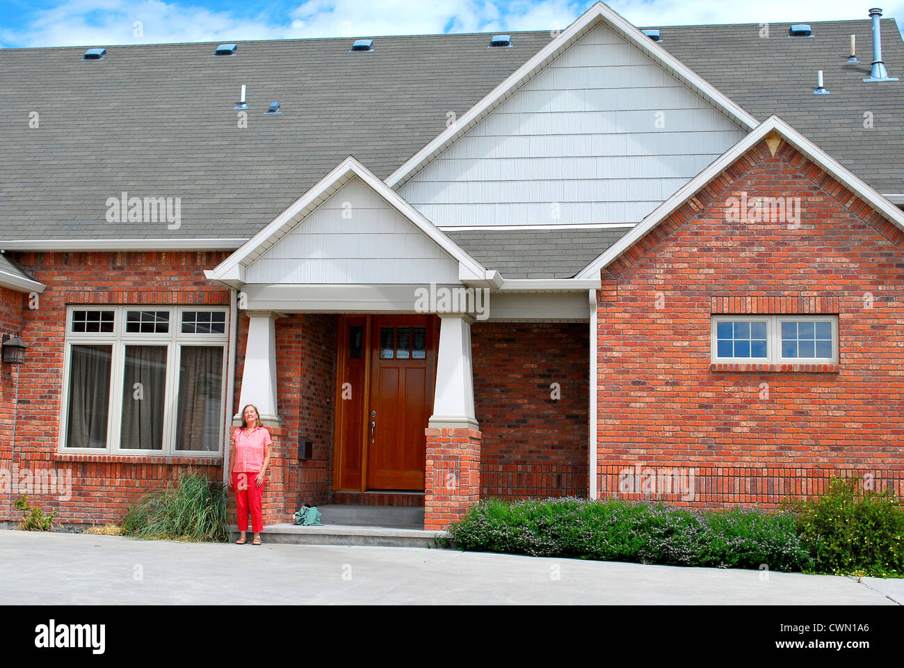 New homeowner. - Stock Image