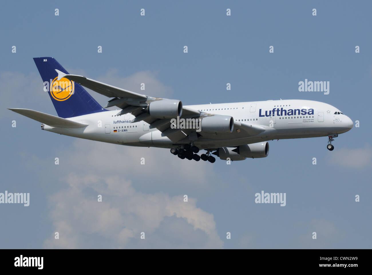 Lufthansa Airbus A380 - Stock Image