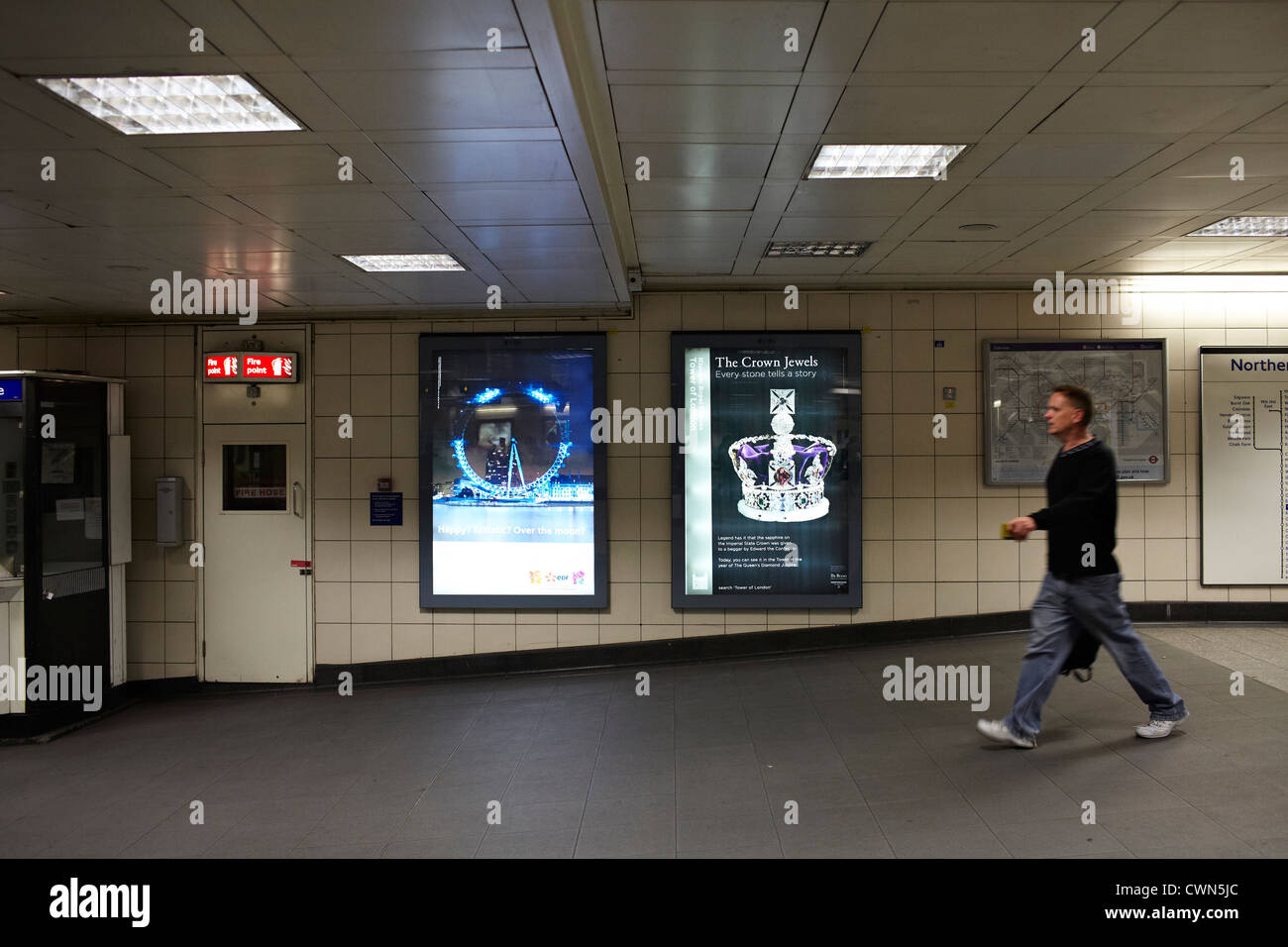 Adshells, Advertising hoardings and back-lit poster and design on the street of London UK. - Stock Image