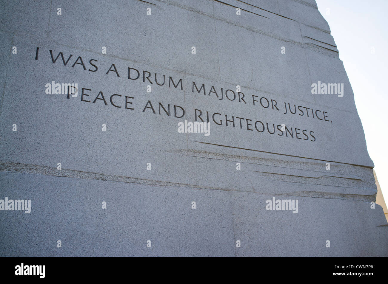 The controversial inscription on the Martin Luther King Jr Memorial in  Washington DC - Stock Image
