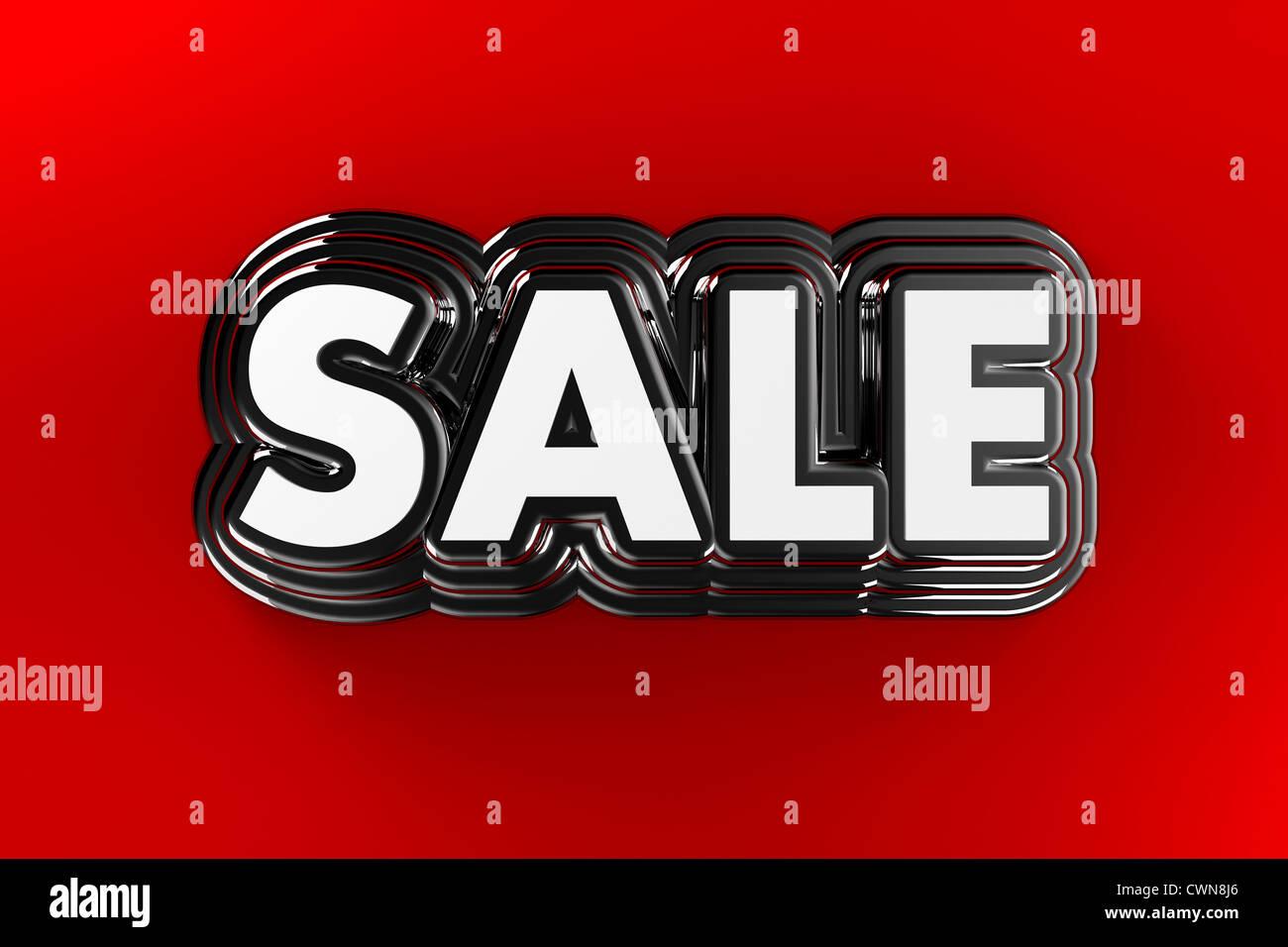 3D Sale sign - Stock Image