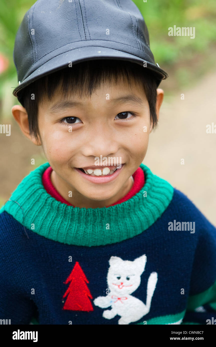 Young boy from Hoi An, Vietnam - Stock Image