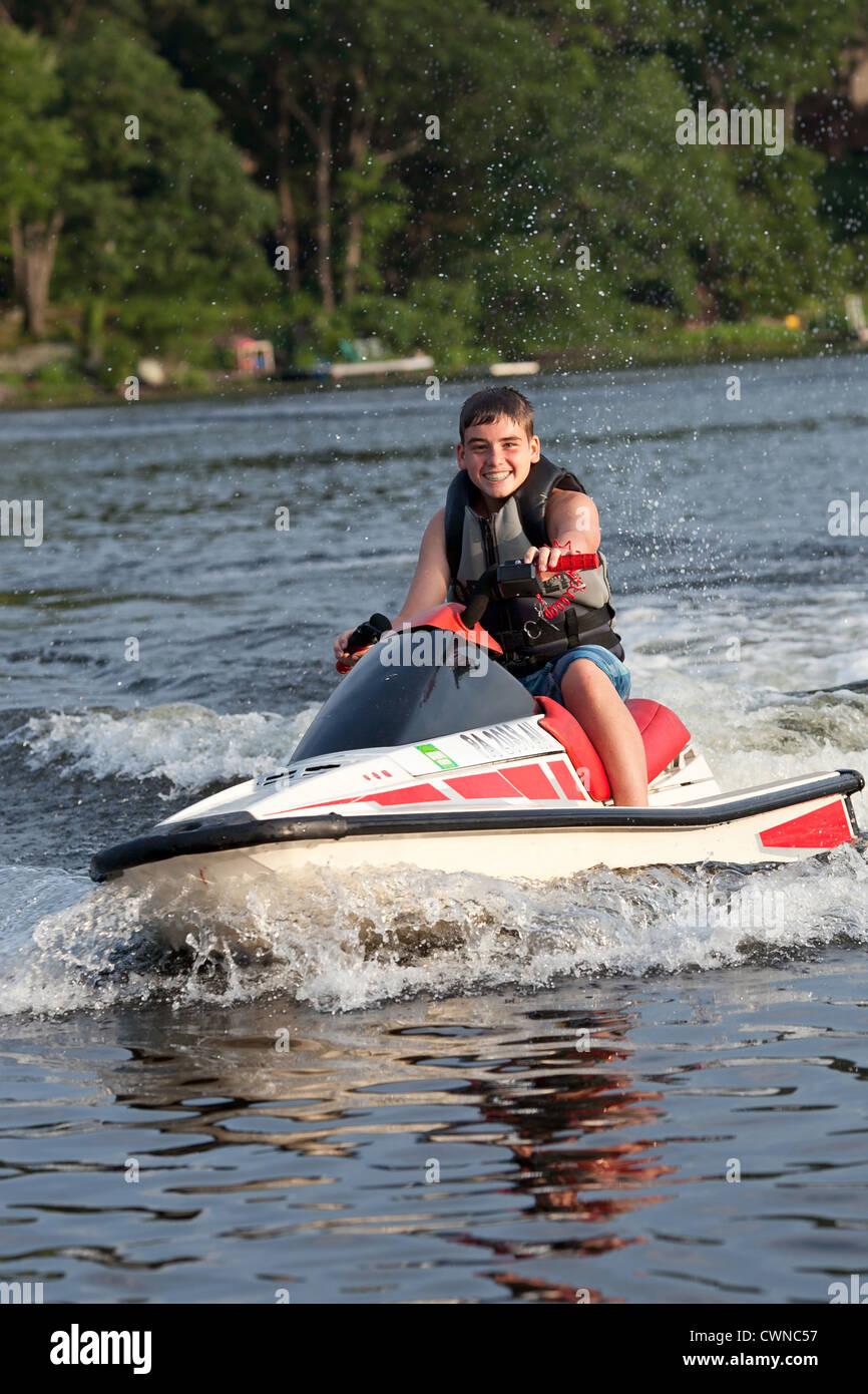 Lake water sport, wave runner, Jet Ski - Stock Image