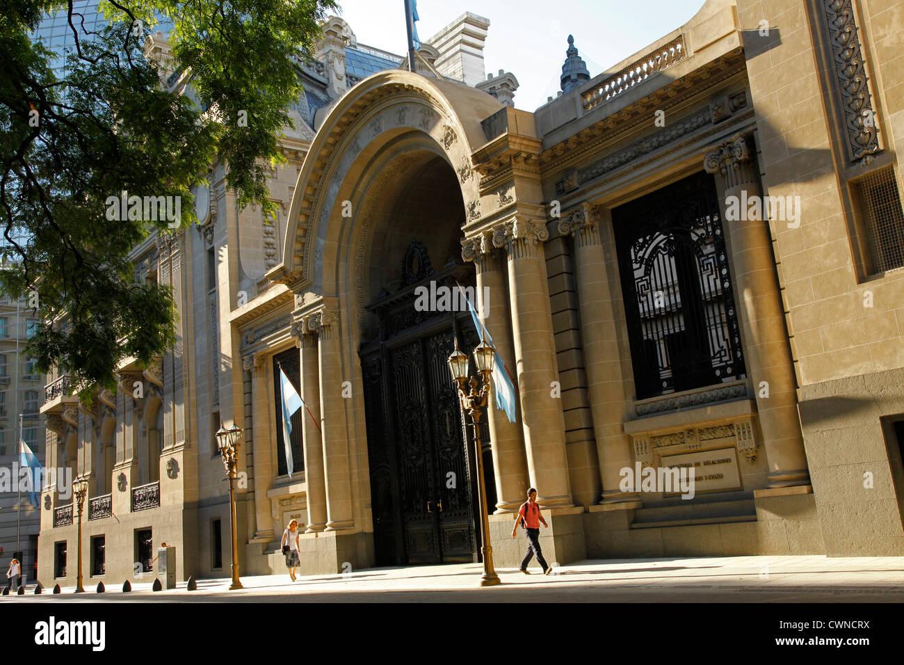 Palacio San Martin at Plaza San Martin, Retiro, Buenos Aires, Argentina. - Stock Image