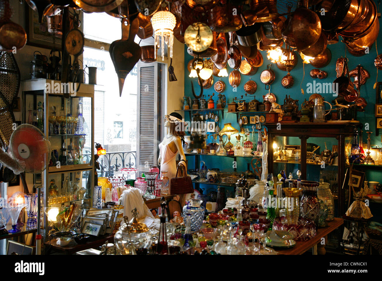Antiques store in San Telmo, Buenos Aires, Argentina. - Stock Image