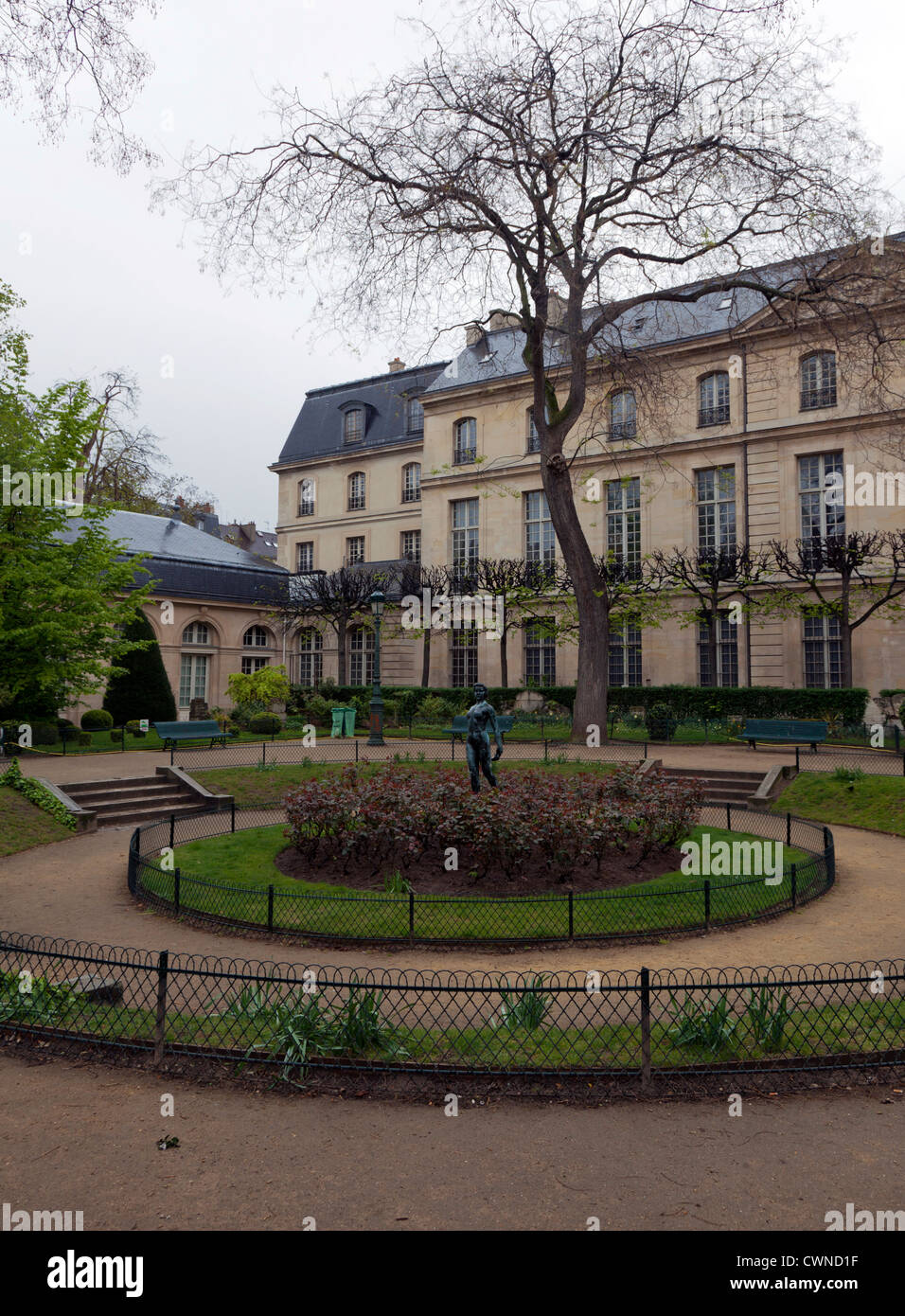 The Square Georges Cain, near Musee Carnavalet, Paris, France - Stock Image
