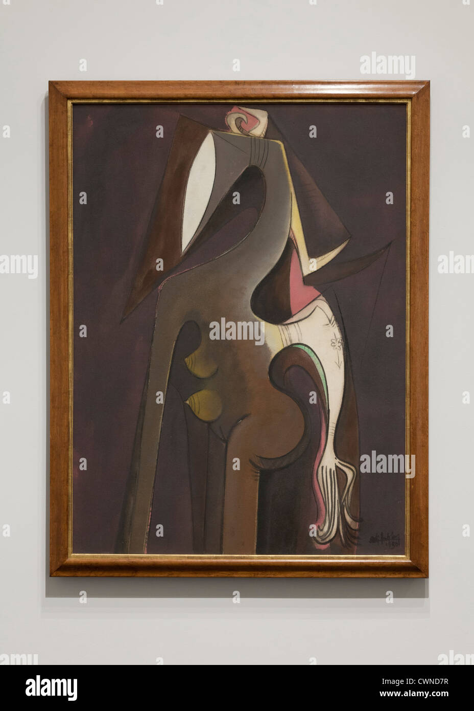 'Siren of the Niger' by Wilfredo Lam, 1950 - Stock Image