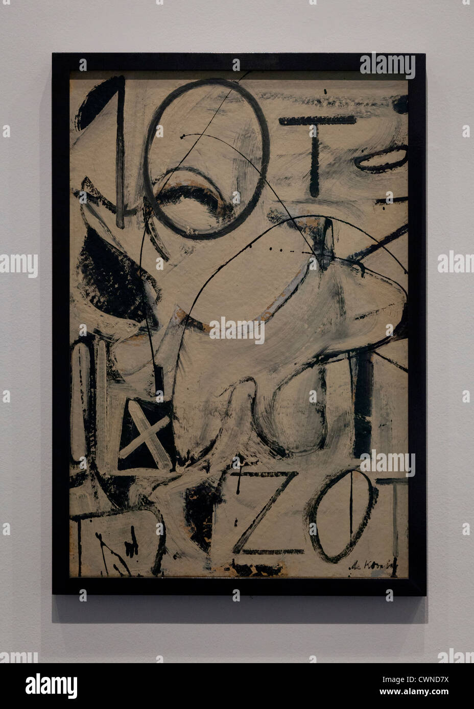 'Zurich' by Willem de Kooning, 1947 - Smithsonian, National Gallery of Art - Washington, DC USA - Stock Image