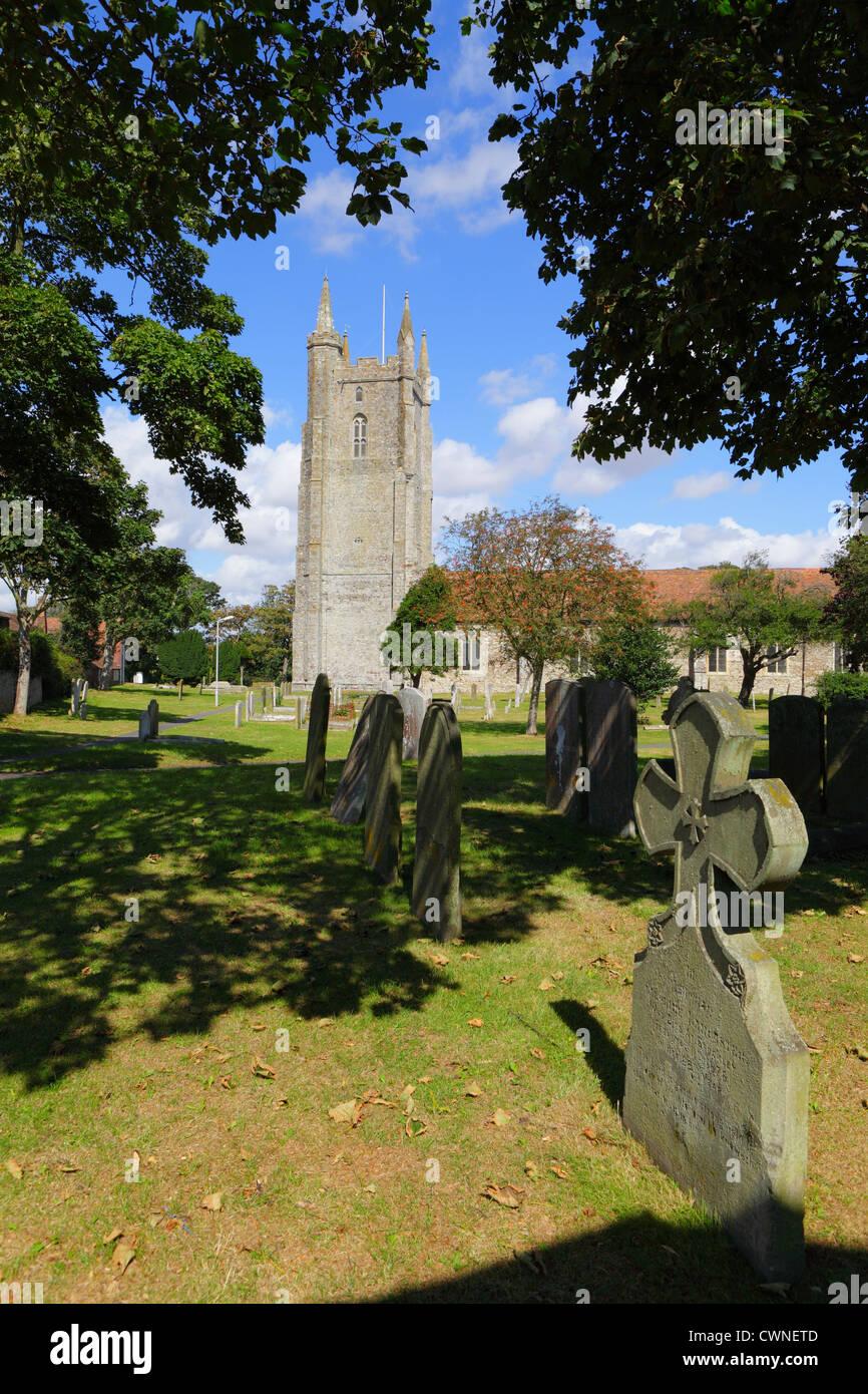 All Saints Church, Lydd, Romney Marsh, Kent, England, UK, GB - Stock Image