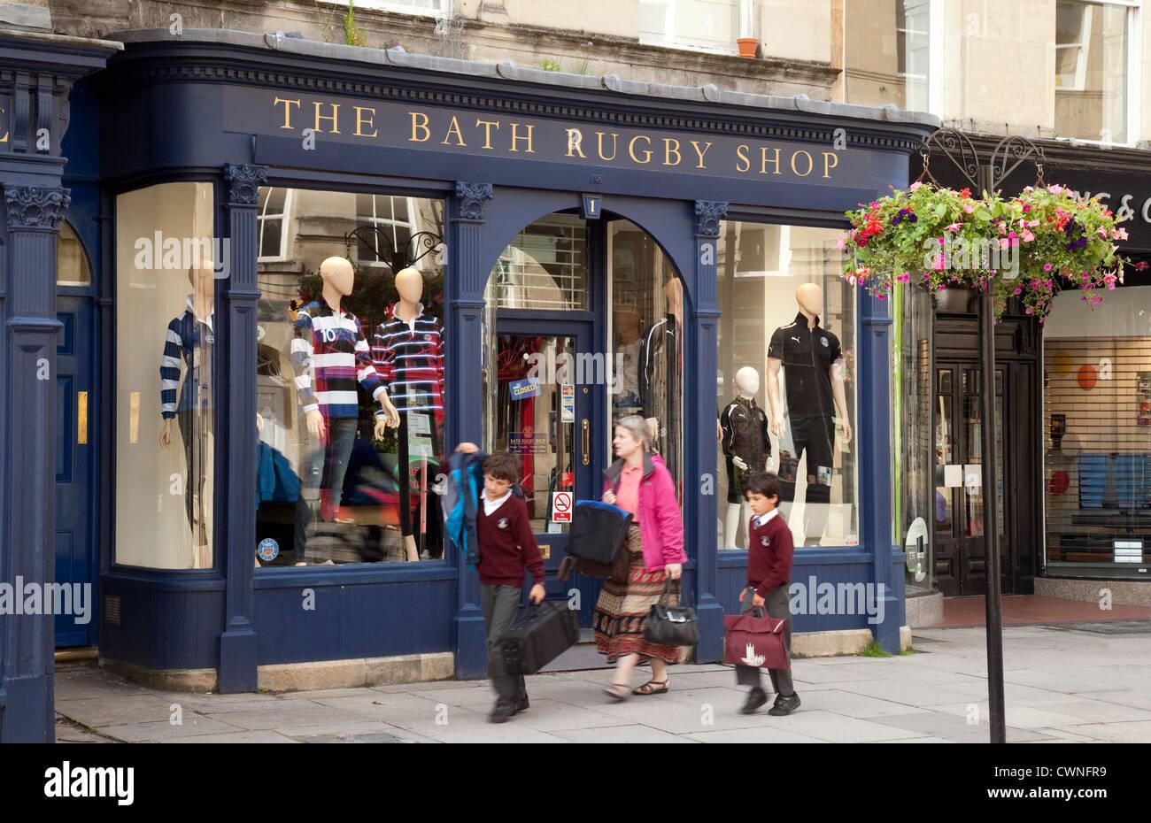 The Bath Rugby Shop, Bath Somerset UK Stock Photo: 50260541 - Alamy