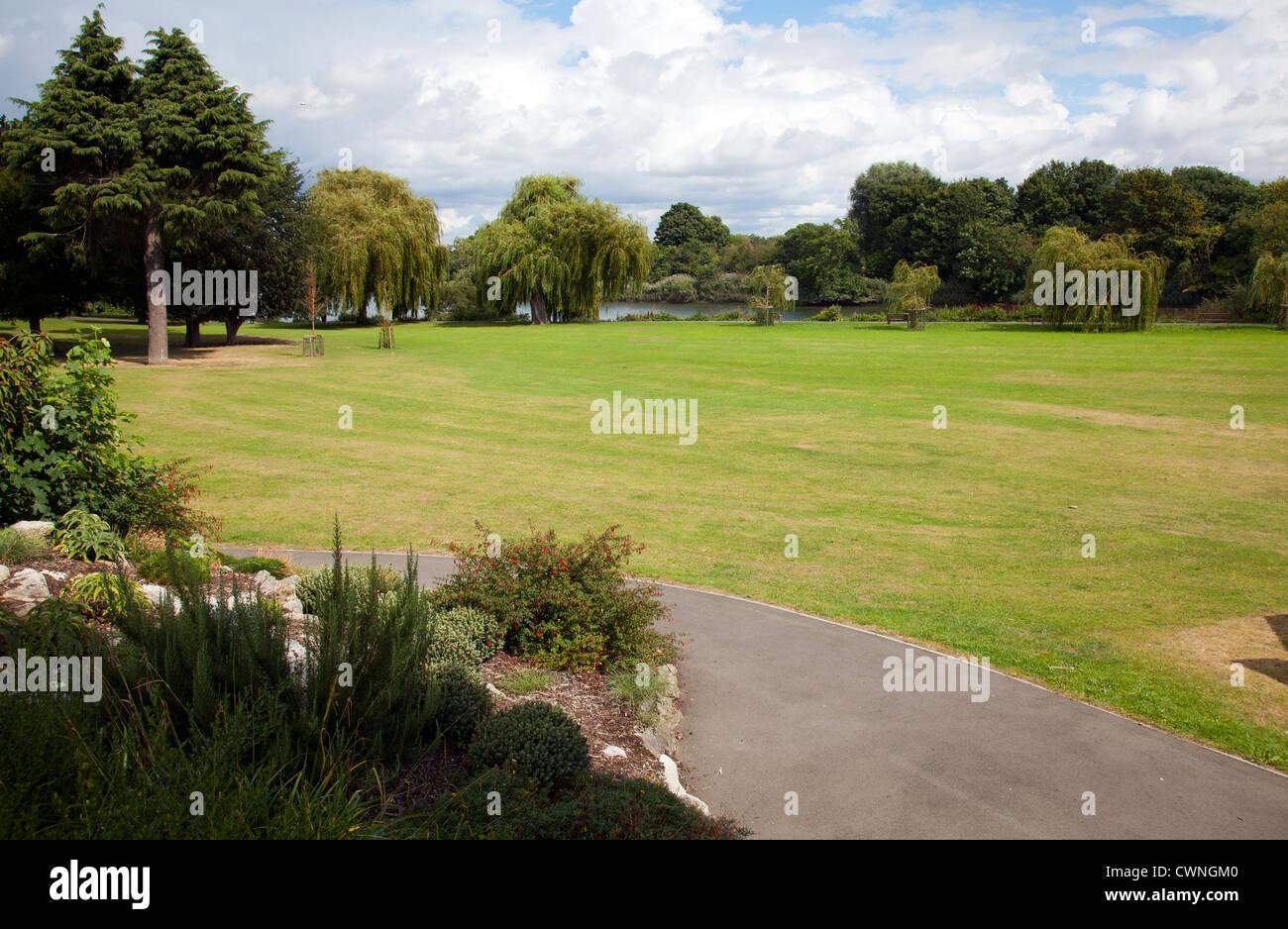 Radnor Gardens in Strawberry Hill in Richmond Alongside Thames - London UK - Stock Image