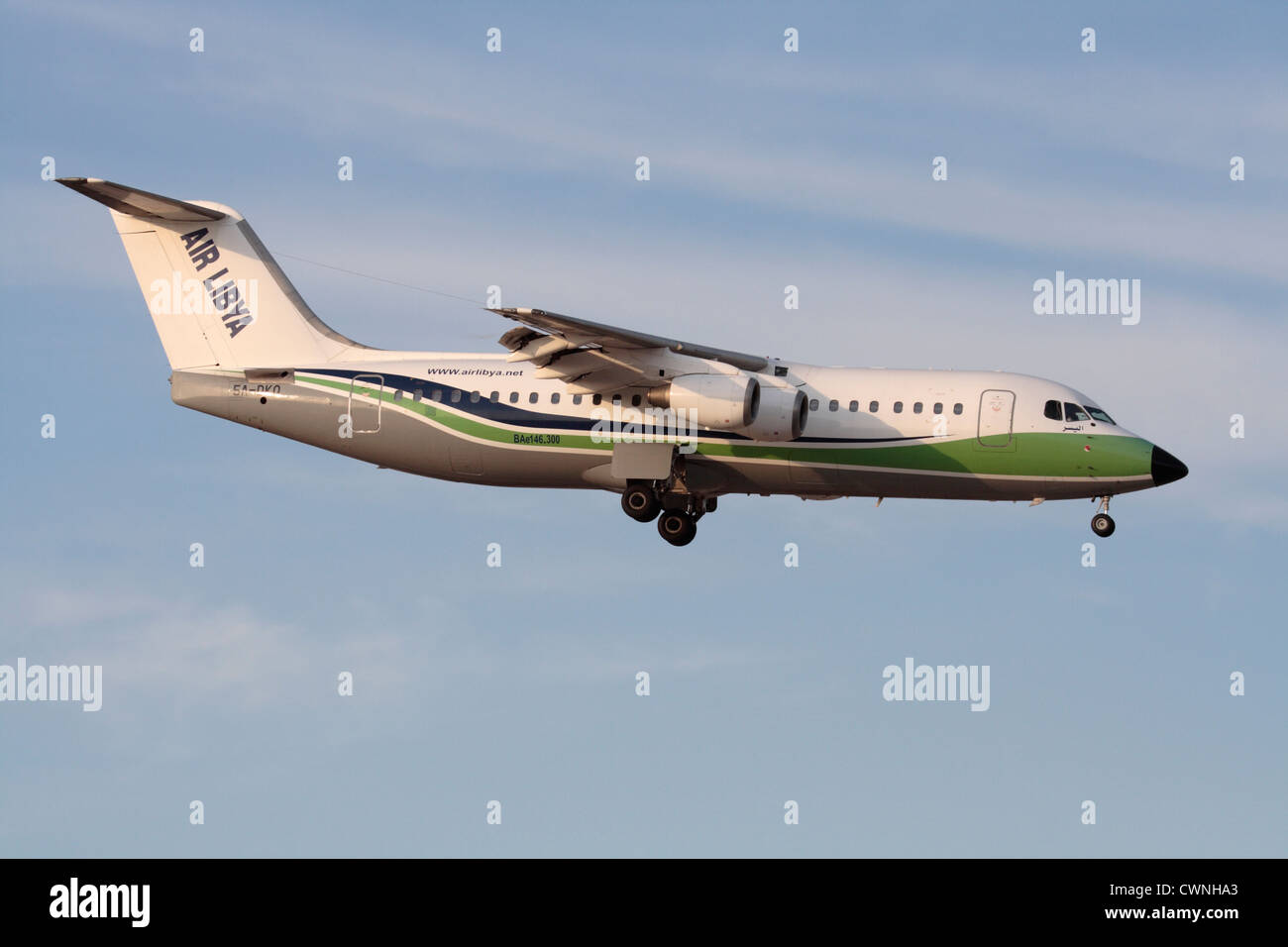 Air Libya BAe 146 regional jetliner Stock Photo