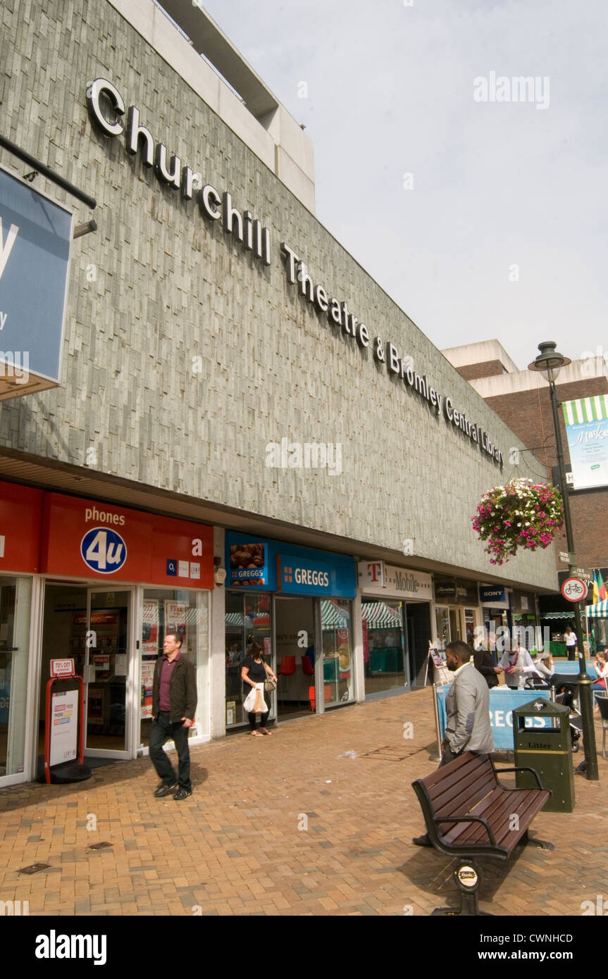 churchill theater bromley uk library - Stock Image
