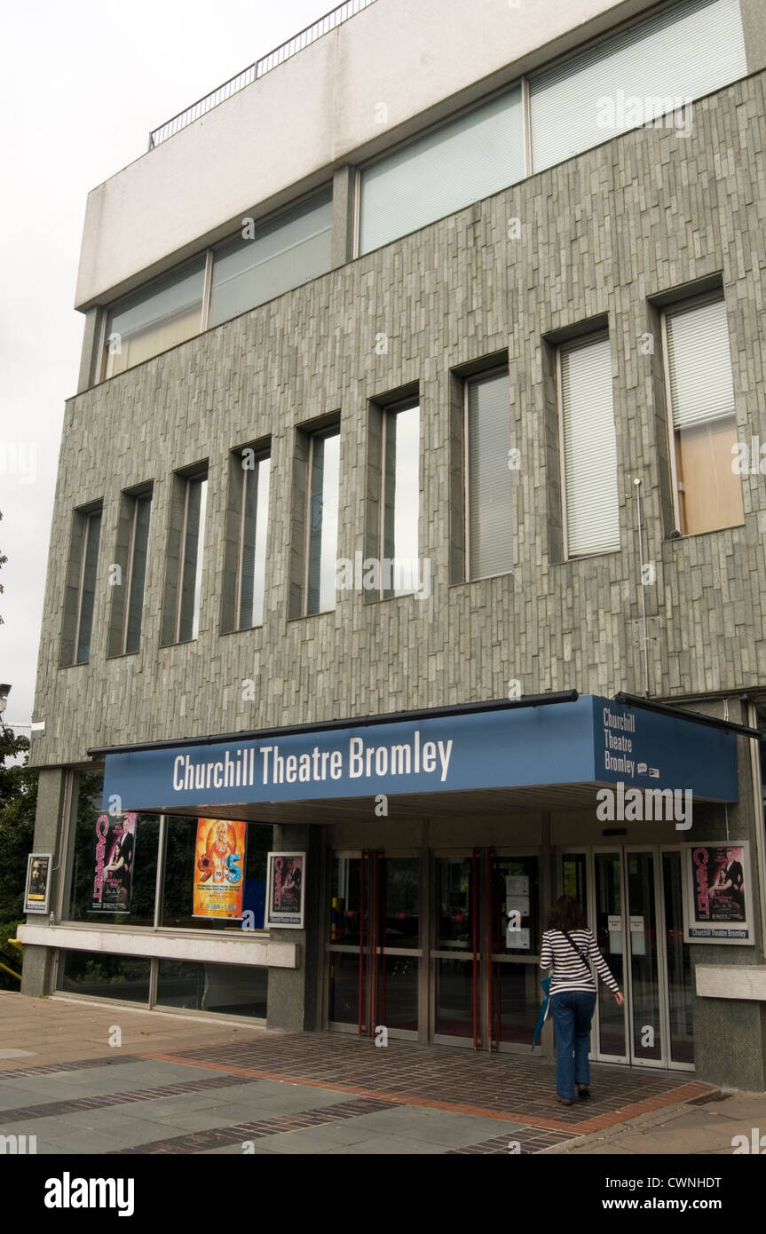 churchill theater bromley uk regional theaters - Stock Image