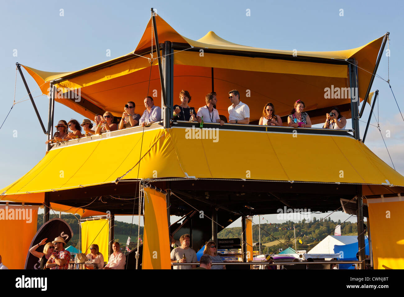 VIP vantage point at the Rewind Festival Henley on Thames 2012. JMH6036 - Stock Image