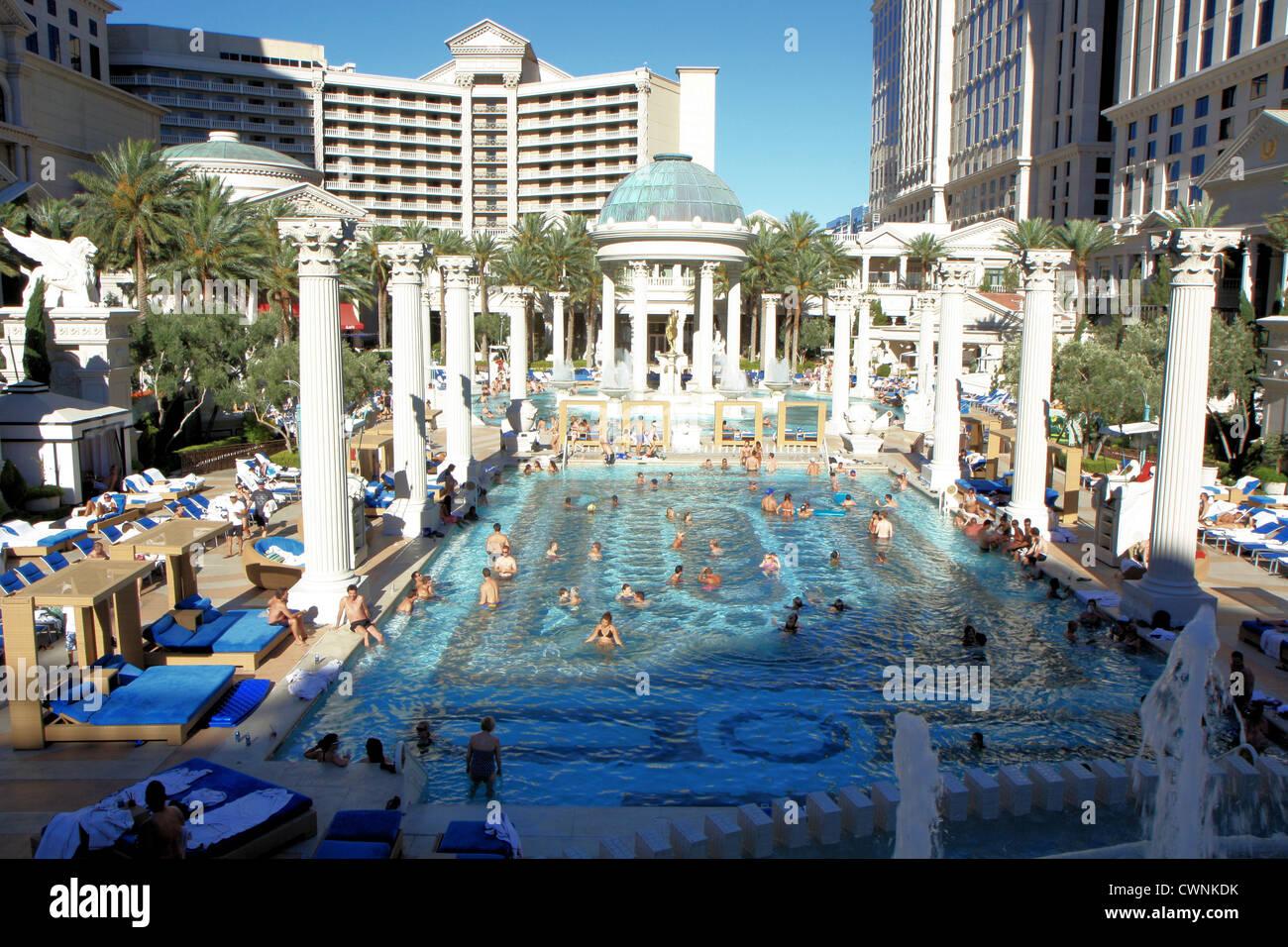 Caesars palace las vegas pool stock photos caesars for Caesars swimming pool