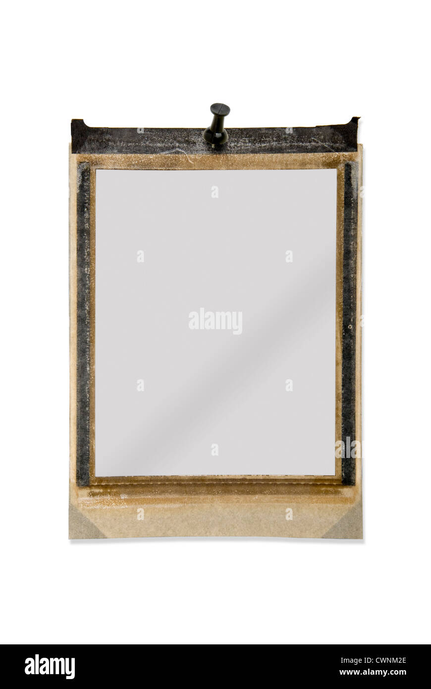 Empty polaroid frame, with pin, isolated on 100% white background ...
