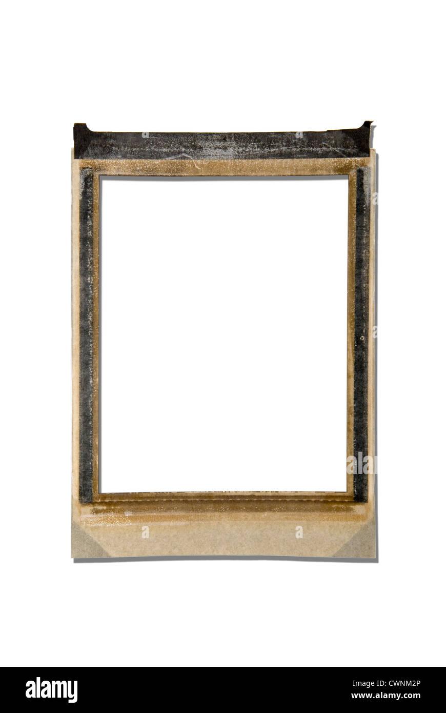 Empty polaroid frame, isolated on 100% white background Stock Photo